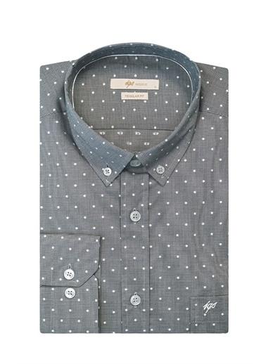 IGS Erkek Grı Regularfıt / Rahat Kalıp Std Gömlek Gri